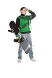 snowboard мальчика Стоковые Изображения