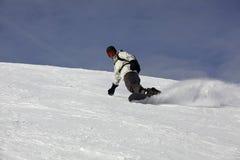 snowboard смещения предпосылки голубой снежный Стоковое Изображение RF