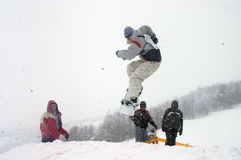 Snowboard 13. Snowboard cup at the zabljak in montenegro Stock Image