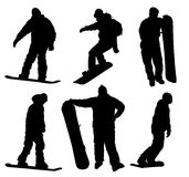 Snowboard. Silhouettes collection. Vector eps8 Royalty Free Stock Image
