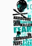 snowboard 3 предпосылок Стоковое Изображение
