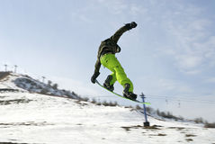 Snowboard. Beautiful snowboard in Kazakhstan, Almaty Stock Photos