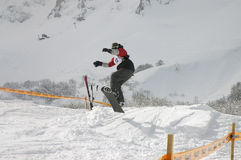 Snowboard 5. Snoeboard cup at the zabljak in montenegro Stock Photography