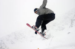 Snowboard 7. Snoeboard cup at the zabljak in montenegro Stock Image