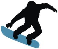 Snowboard. Abstract vector illustration of snowboard skier Royalty Free Stock Photos