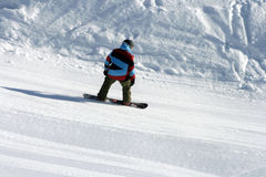 Snowboard. Man on the snowboard in Russia Stock Image