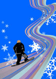 Snowboard libre illustration
