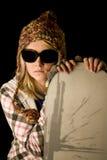 Snowboard adolescente Foto de archivo libre de regalías