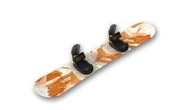 Snowboard, articolo sportivo su bianco Immagini Stock Libere da Diritti