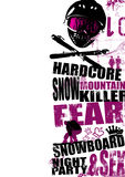 Snowboard background 1. Extreme snowboard background (magazin, flyer, background, placard Royalty Free Stock Photography