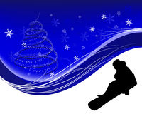 Snowboard background Royalty Free Stock Images