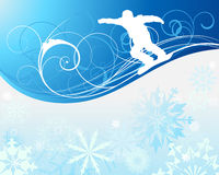 Snowboard background. Sport background with snowboard athlete. Vector illustration with mesh Royalty Free Stock Photo