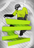 Snowboard background Stock Image