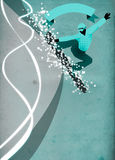 Snowboard background Stock Photo