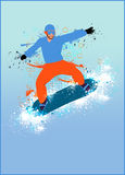 Snowboard background Stock Photos
