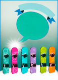 Snowboard background Royalty Free Stock Image