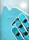 Snowboard background Stock Image