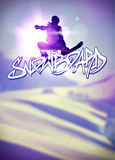 Snowboard background Royalty Free Stock Photos
