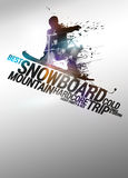 Snowboard background Stock Images