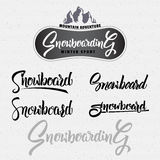 Snowboard badge and label Royalty Free Stock Photos