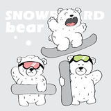 Snowboard bears Royalty Free Stock Photos