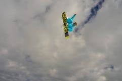 Snowboard big air. Big air jump in snowboard Stock Image