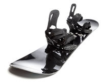 Snowboard with bindings isolated Stock Photos