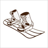 Snowboard board Stock Photography