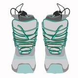 Snowboard boot front. Stock Image