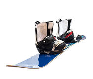 Snowboard and boots isolated Royalty Free Stock Image