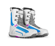 Snowboard boots  on white Royalty Free Stock Images