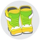 Snowboard buty Zdjęcie Stock