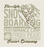 Snowboard camp. Royalty Free Stock Image