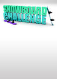 Snowboard challenge background Royalty Free Stock Photos