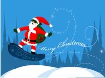 snowboard claus santa иллюстрация штока