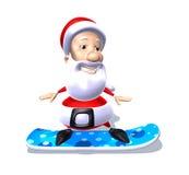 snowboard claus santa иллюстрация вектора