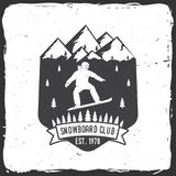 Snowboard Club. Vector illustration. Concept for shirt or logo, print, stamp or tee. Snowboard Club. Vector illustration. Concept for shirt, print, stamp or tee Stock Image
