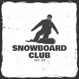 Snowboard Club. Vector illustration. Concept for shirt or logo, print, stamp or tee. Snowboard Club. Vector illustration. Concept for shirt, print, stamp or tee Royalty Free Stock Photography