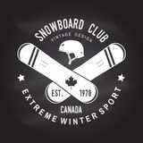 Snowboard Club. Vector illustration. Concept for shirt, print, stamp or tee. Snowboard Club. Canada. Vector. Concept for shirt , print, stamp or tee. Vintage Stock Photos