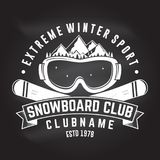 Snowboard Club. Vector illustration. Concept for shirt, print, stamp or tee. Snowboard Club. Vector. Concept for shirt , print, stamp or tee. Vintage typography Stock Images