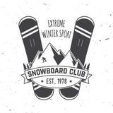 Snowboard Club. Vector illustration. Concept for shirt, print, stamp or tee. Snowboard Club. Vector illustration. Concept for shirt , print, stamp or tee Stock Photos