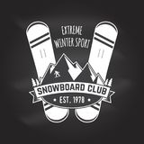 Snowboard Club. Vector illustration. Concept for shirt, print, stamp or tee. Snowboard Club. Vector illustration. Concept for shirt , print, stamp or tee Royalty Free Stock Image