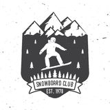 Snowboard Club. Vector illustration. Concept for shirt or logo, print, stamp or tee. Snowboard Club. Vector illustration. Concept for shirt, print, stamp or tee Royalty Free Stock Images