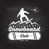 Snowboard Club. Vector illustration. Concept for shirt or logo, print, stamp or tee. Snowboard Club. Vector illustration. Concept for shirt, print, stamp or tee Stock Photo