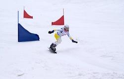 Snowboard. Competição. fotos de stock royalty free