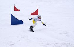 Snowboard. Competition. Royalty Free Stock Photos