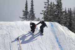 Snowboard cross Stock Photography