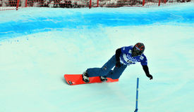 Snowboard cross world cup Royalty Free Stock Photography