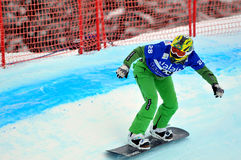 Snowboard cross world cup Stock Images