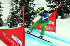 Snowboard cross world cup Stock Image